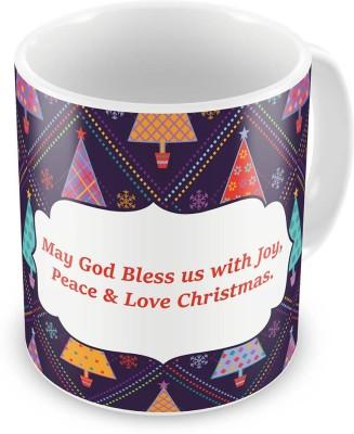 Indian Gift Emporium Printed Design Cute Blue Coffee  621 Ceramic Mug
