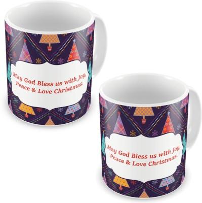 Kiran Udyog Kiran UdyogPrinted Design Cute Blue Coffee s Pair 621 Ceramic Mug