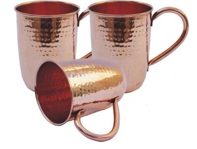 Veda Home & Lifestyle Copper Hammered Round  Set Copper Mug