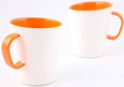 Hi Luxe Ivory Melamine 42249 Ivory - Orange Melamine Mug