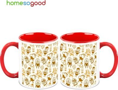 HomeSoGood Funny Animated Faces Ceramic Mug