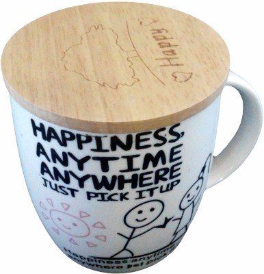 GeekGoodies White Large Happiness Ceramic Mug