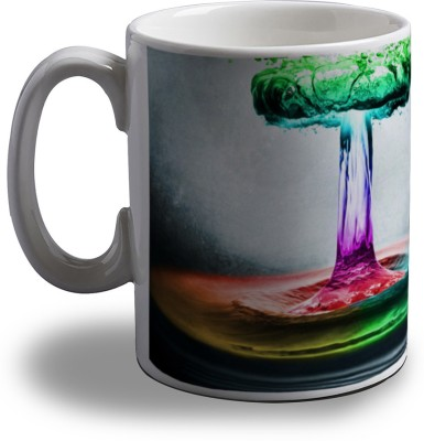 Artifa Colorful Water Blast Porcelain, Ceramic Mug