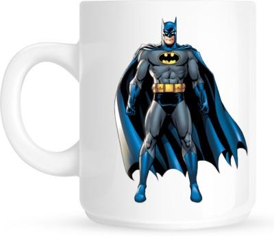 Huppme Animated Batman White  Ceramic Mug