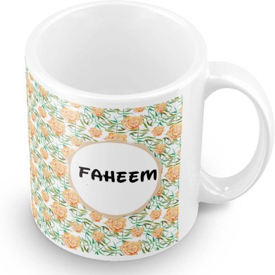 posterchacha Faheem Floral Design Name  Ceramic Mug