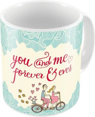 Indiangiftemporium Designer Romantic Printed Coffee  704 Ceramic Mug