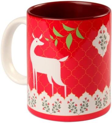 Studio Pandora Pink Deer Coffee Ceramic Mug