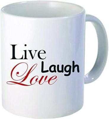 Rikki Knight LLC Knight Live Laugh Love Holiday Style 11 oz Ceramic Coffee  Cup Ceramic Mug