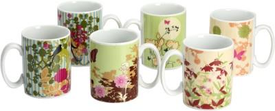Devnow Stoneware Flower Design Porcelain Mug