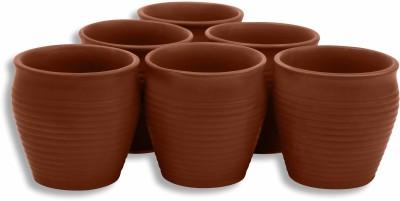 MC SID RAZZ Earthen Glazed Terracotta Chai/Tea Kulhad Cups Ceramic Mug