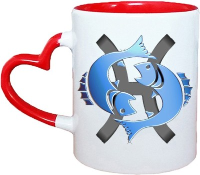 Muggies Magic Horoscope new logo Red Heart Handle 11 Oz Ceramic Mug(325 ml)