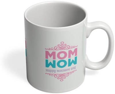 PosterGuy Mom Wow Happy Mother,S Day Wow, Mom, Mother, Typography, Celebration, Best Greetings. Ceramic Mug