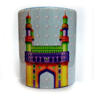 Indiavibes Printed Coffee Tea  with Charminar Theme Ceramic Mug