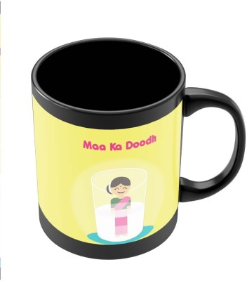 PosterGuy Maa Ka Dhoodh Funny Graphic Illustration Ceramic Mug