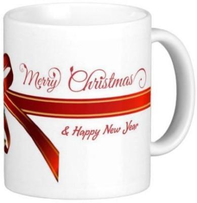 Easyhome Merry Christmas & Happy New Year 350 ml Ceramic Mug