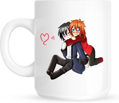 Huppme Hug My Lover White  Ceramic Mug
