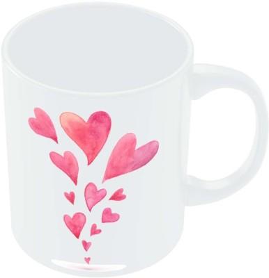 PosterGuy Quirky Hearts Illustration Pattern Graphic Art Porcelain Mug