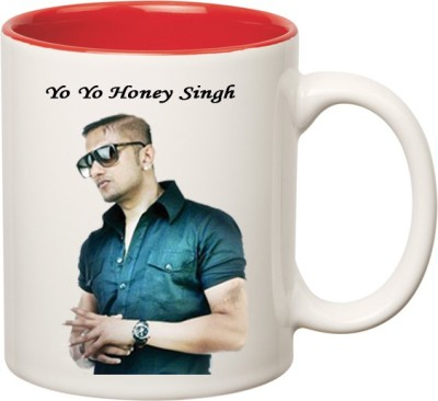 Huppme Yo Yo Honey Singh Inner Red  Ceramic Mug