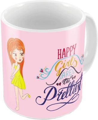 Indiangiftemporium Designer Romantic Pink Coffee  694 Ceramic Mug