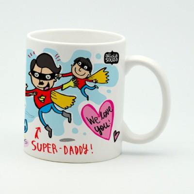 Alicia Souza Super Dad Porcelain Mug