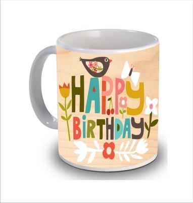 Print Hello Happy Birthday Cake b222 Ceramic Mug