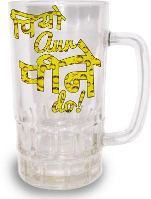 Tiedribbons Piyo aur Peene Do Printed Beer Glass Mug