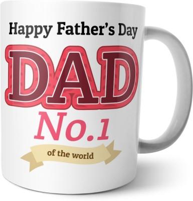 Chiraiyaa Happy Fathers Day - Dad number 1 Ceramic Mug