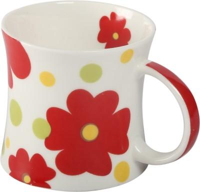 Carolin Red Bone China Mug
