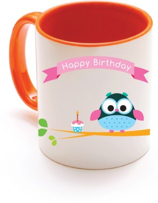 Only Owl OWL 1026 Happy Birthday s Ceramic Mug