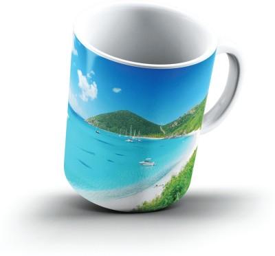 Ucard White Bay British Virgin Islands2704 Bone China, Ceramic, Porcelain Mug