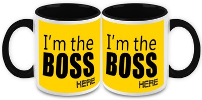 HomeSoGood I,m The Boss Here Quote Ceramic Mug
