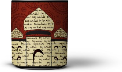 The Indian 300ml Red Taj Mahal Ceramic Mug