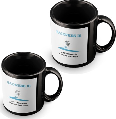 posterchacha Sadness Is When Not Being Able To Phone Mom Black Tea And Coffee to Gift To Mother Ceramic Mug