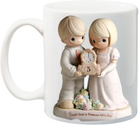 IZOR 5th anniversary each hour Gift for Husband/Wife/Mom/Dad/Couples/Lover, printed Ceramic Mug