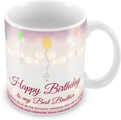 Prinzox Happy Birthday To My Best Brother Ceramic Mug