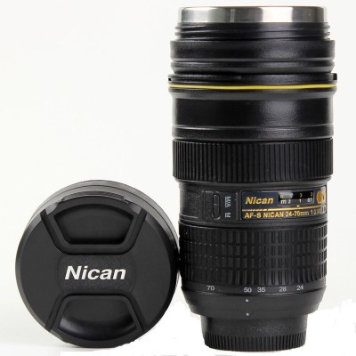 Gadget Paradise Nicon Zoom Lens shaped Tea Coffee  Innovative Gifting Stainless Steel Mug