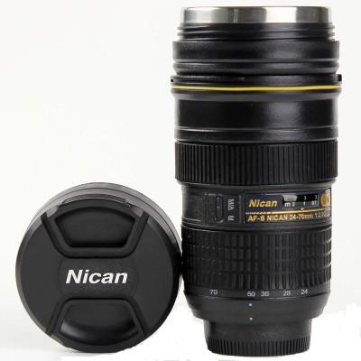 Gadget Paradise Nicon Zoom Lens shaped Tea Coffee  Innovative Gifting Stainless Steel Mug