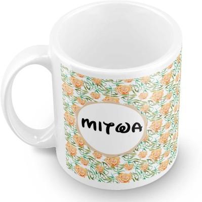 posterchacha Mitwa Floral Design Name  Ceramic Mug