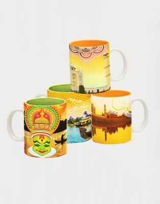 Tangerine Indie Tadka Agra & Kovalam Porcelain Mug
