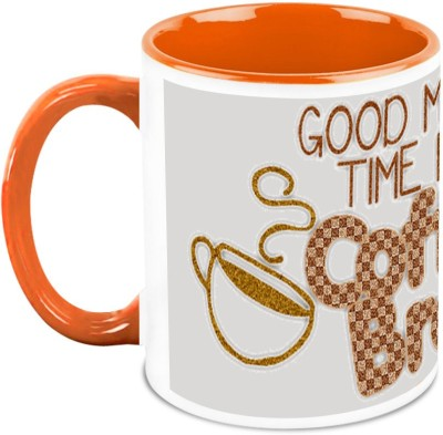 HomeSoGood Coffee Any Time Ceramic Mug