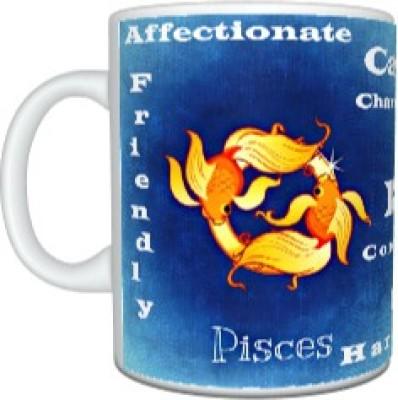 CreativesKart Zodiac Pisces (M) Ceramic Mug