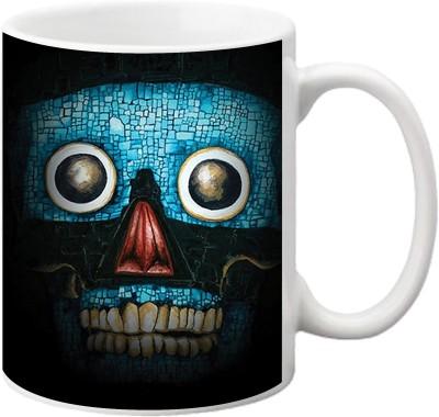 ezyPRNT Skull Design Ceramic Mug
