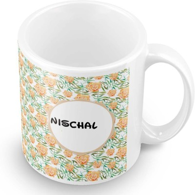 posterchacha Nischal Floral Design Name  Ceramic Mug