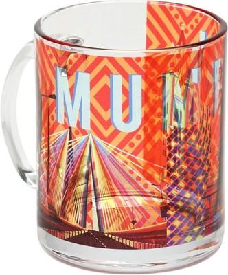 The Elephant Company Mumbai Cityscape Orange Glass Coffee  Ceramic Mug