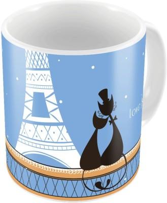 Indiangiftemporium Cute Designer Romantic Printed Coffee  712 Ceramic Mug