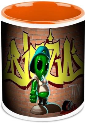 HomeSoGood Turtle With Swagger (Set Of 2) Ceramic Mug