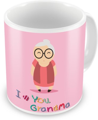 Indian Gift Emporium I love You Grandma Print Fancy Designer Coffee  510 Ceramic Mug