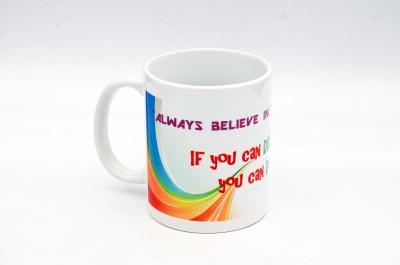 The Values Store Dream High Reach High Ceramic Mug