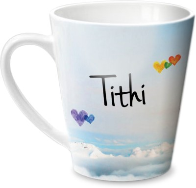 Hot Muggs Simply Love You Tithi Conical  Ceramic Mug