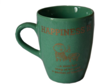 MGPLifestyle Happiness Quote  in Green Color Ceramic Mug